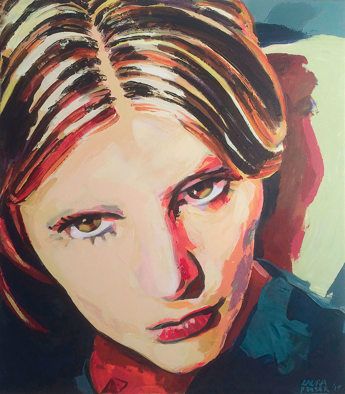 Image of painting of JoJo by Laura Fraser