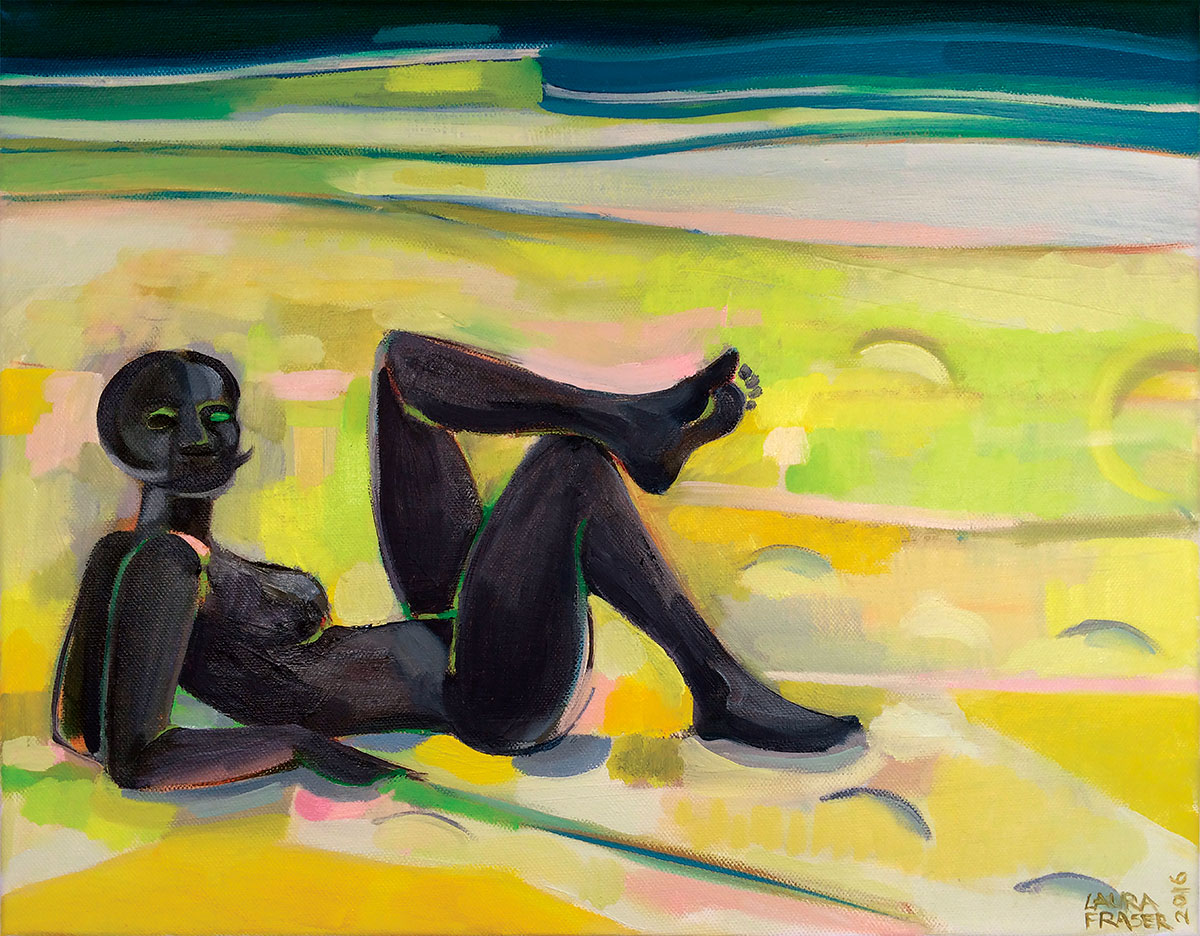 Image of painting by Laura Fraser - Reclining Nude