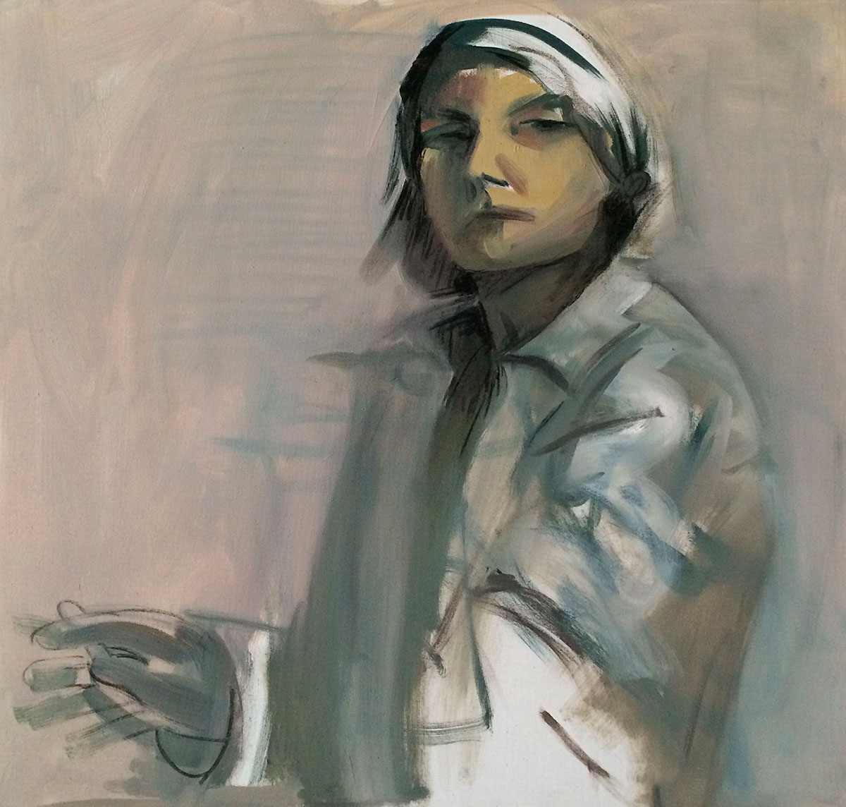 Image of Self Portrait, Painting by Laura Fraser