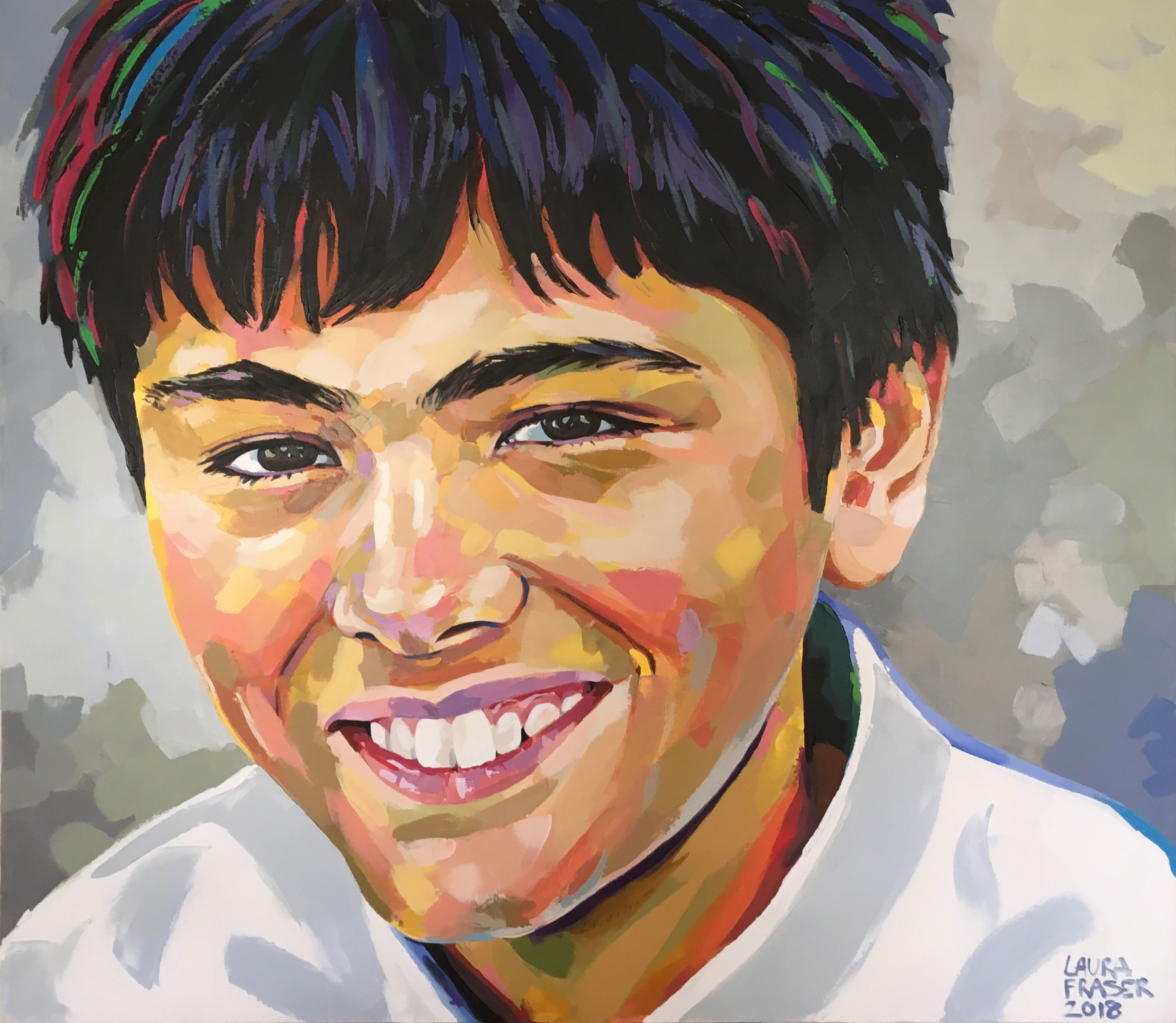Painting of South African Boy