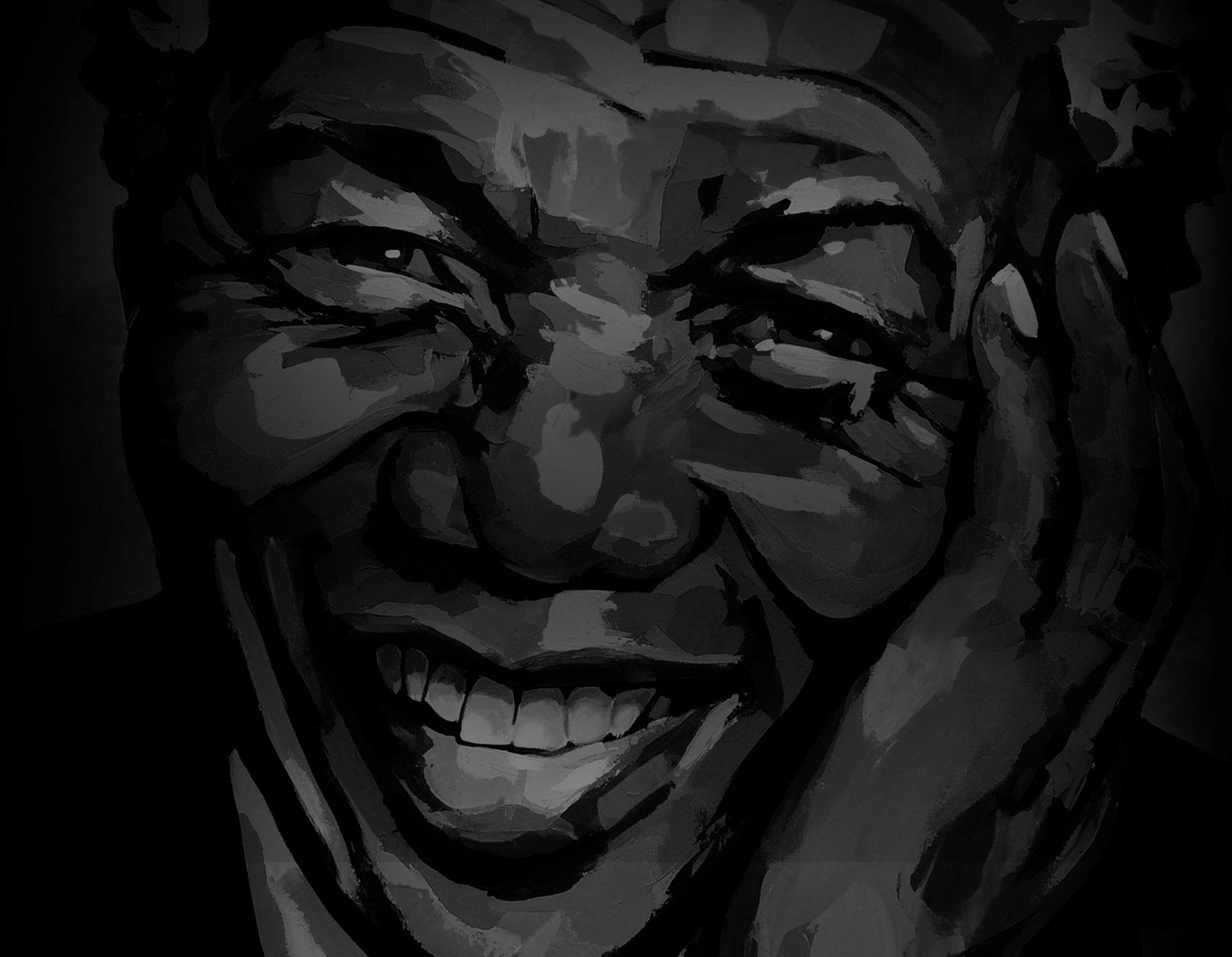 Painting of Nelson Mandela Backgroud Image